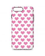 Plush Pink Hearts iPhone 7 Plus Pro Case
