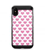 Plush Pink Hearts iPhone XS Max Cargo Case