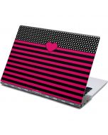 Polka Dots and Stripes Heart in Pink Yoga 910 2-in-1 14in Touch-Screen Skin