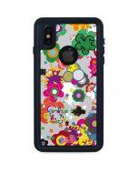 Pop Garden White iPhone X Waterproof Case
