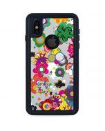 Pop Garden White iPhone XS Waterproof Case