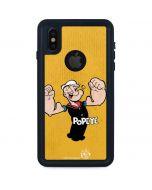 Popeye Flexing iPhone XS Waterproof Case