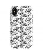 Porky Pig Black and White iPhone X Pro Case