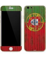 Portuguese Flag Dark Wood iPhone 6/6s Skin