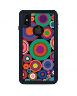 Psychedelic Circles iPhone XS Waterproof Case