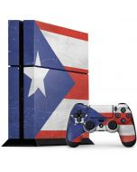 Puerto Rico Flag Distressed PS4 Console and Controller Bundle Skin
