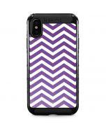 Purple Chevron iPhone XS Max Cargo Case