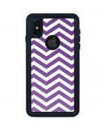 Purple Chevron iPhone XS Waterproof Case