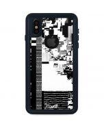 QR Glitch iPhone XS Waterproof Case