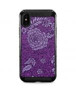 Radiant Orchid Floral iPhone XS Max Cargo Case