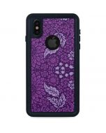 Radiant Orchid Floral iPhone XS Waterproof Case