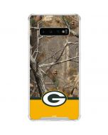 Realtree Camo Green Bay Packers Galaxy S10 Plus Clear Case