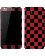 Red and Black Checkerboard Galaxy S5 Skin