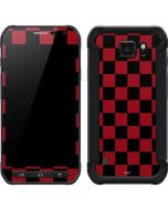 Red and Black Checkerboard Galaxy S6 Active Skin