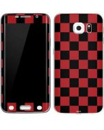 Red and Black Checkerboard Galaxy S6 Edge Skin