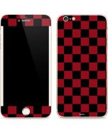 Red and Black Checkerboard iPhone 6/6s Plus Skin