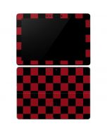 Red and Black Checkerboard Surface Go Skin