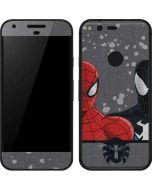 Red and Black Spider-Man Google Pixel Skin