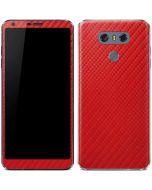 Red Carbon Fiber LG G6 Skin