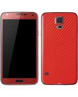 Red Carbon Fiber Galaxy S5 Skin