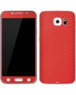 Red Carbon Fiber Galaxy S6 Skin