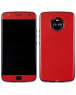 Red Carbon Fiber Moto X4 Skin