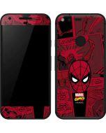 Red Spider-Man Comics Google Pixel Skin