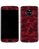 Red Street Camo Moto X4 Skin
