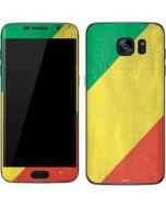 Republic of the Congo Flag Distressed Galaxy S7 Skin