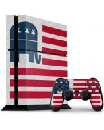 Republican American Flag PS4 Console and Controller Bundle Skin