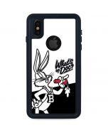 Retro Bugs Bunny iPhone XS Waterproof Case