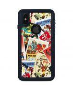 Retro Goofy Stamps iPhone X Waterproof Case
