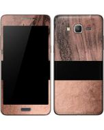 Rose Gold and Black Marble Galaxy Grand Prime Skin