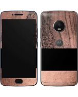Rose Gold and Black Marble Moto G5 Plus Skin