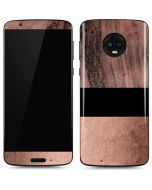 Rose Gold and Black Marble Moto G6 Skin