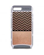 Rose Gold Chevron Split iPhone 8 Plus Cargo Case
