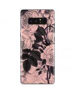 Rose Quartz Floral Galaxy Note 8 Skin
