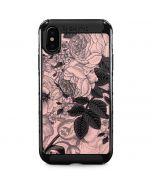 Rose Quartz Floral iPhone X Cargo Case