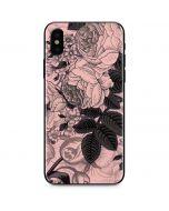 Rose Quartz Floral iPhone X Skin