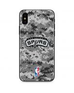 San Antonio Spurs Digi Camo iPhone X Skin