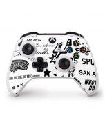 San Antonio Spurs Historic Blast Xbox One S Controller Skin