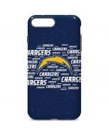 Los Angeles Chargers Blue Blast iPhone 7 Plus Pro Case