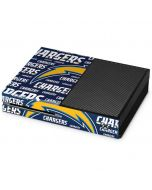 Los Angeles Chargers Blue Blast Xbox One Console Skin
