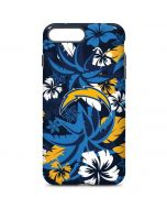 Los Angeles Chargers Tropical Print iPhone 7 Plus Pro Case