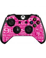 San Francisco 49ers - Blast Pink Xbox One Controller Skin