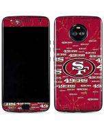 San Francisco 49ers Blast Moto X4 Skin
