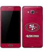San Francisco 49ers Distressed Galaxy Grand Prime Skin