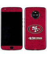 San Francisco 49ers Distressed Moto X4 Skin