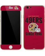 San Francisco 49ers Helmet iPhone 6/6s Skin