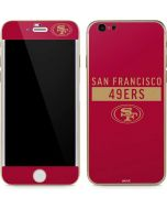 San Francisco 49ers Red Performance Series iPhone 6/6s Skin